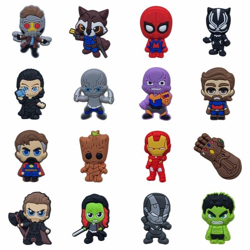 Labels, Indexes & Stamps Generous 5pcs/lot Avenger Infinity War Cartoon Mini Figure Pvc Pins Brooch Badges Clothes/hats Accessory School Bag Diy Decor Xmas Gift Badge Holder & Accessories