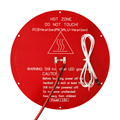 3D printers kossel Delta rostock MK3 heatbed 12V Aluminum Round hot bed + LED + Resistor + Cable + 100K ohm Thermistors