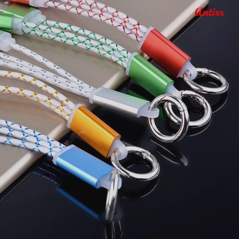 Antirr Fast 2in1 Micro USB 8pin Metal Keychain USB Sync