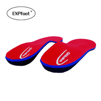 New Style Leather Arch Support Insole For Flat Feet Arch Support Orthopedic Insoles For Shoes Woman