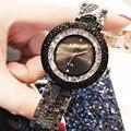 Модные женские часы с цветным корпусом  трендовые кварцевые часы со стальным ремешком  женские дикие многоцветные стразы  наручные часы