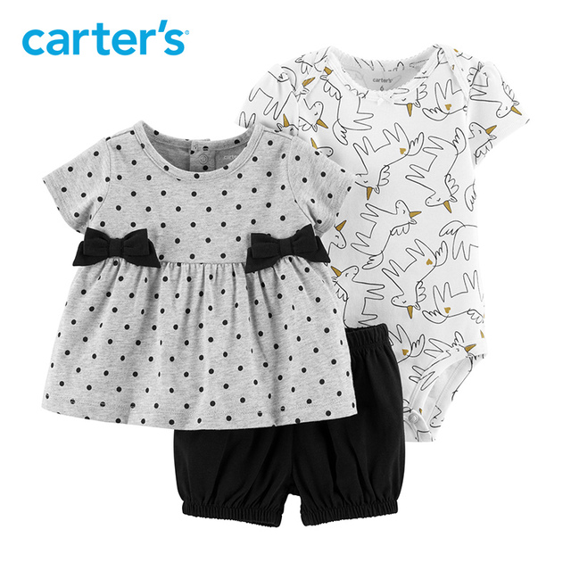 23411927f Carters baby girl clothes 3-Piece Unicorn Little Short Set polka dot top  Cotton unicorn bodysuit baby clothing 15956611