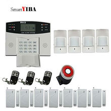 SmartYIBA Home Security Alarm System Wireless GSM SMS Alarm Kits PIR Detector Magnetic Door Sensor Auto Dial Alarm System