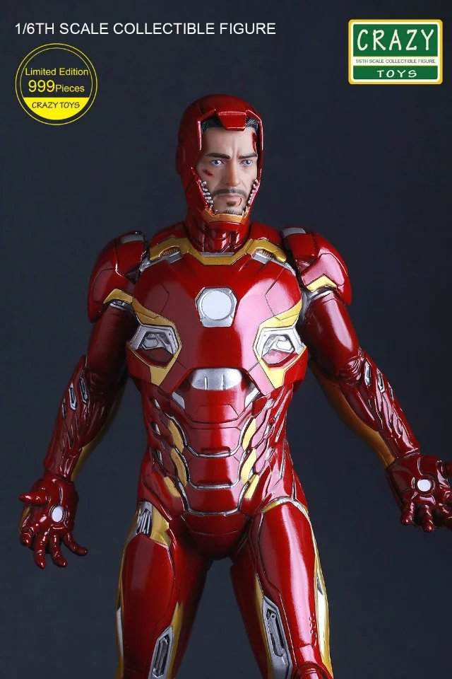 1//6TH IRON MAN MK 45 XLV CIVIL WAR BY CRAZY TOYS COLLECTIBLE FIGURE STATUE 12/'/'
