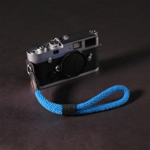 Image 1 - Cam in WS022 Cowskin i taśma bawełniana pasek na nadgarstek do trzymania kamery skóra DSLR spire lamella smycz na rękę akcesoria fotograficzne 10 kolorów