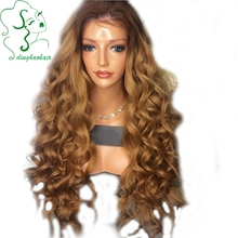 Ombre lace front wig human hair ombre lace wig virgin hair 130density full lace human hair wigs Two Tone Color for black women