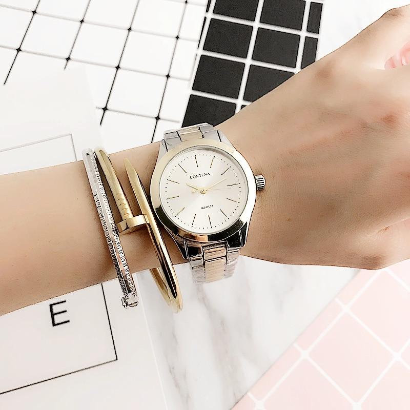 Neue berühmte Marke Armbanduhr Fashion Classic Kalender Edelstahl - Damenuhren