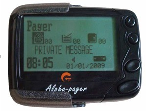 Alphanumberic pager, Display Pagers, Poscag wireless calling system receiver