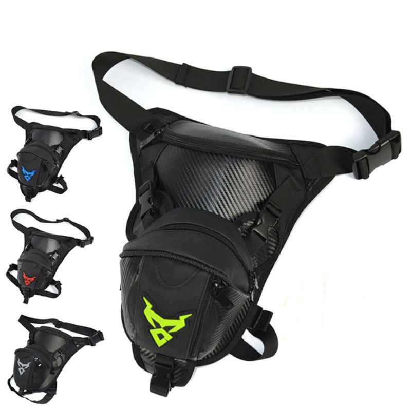 Men Waterproof Oxford Drop Leg Bag Waist Fanny Pack Cross Body Shoulder Thigh Hip Belt Bum Pouch Tactical Motorcycle Riding