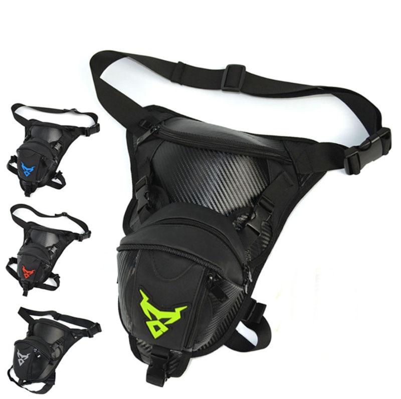 Men Waterproof Oxford Drop Leg Bag Waist Fanny Pack Cross Body Shoulder Thigh Hip Belt Bum Pouch Tactical Motorcycle Riding
