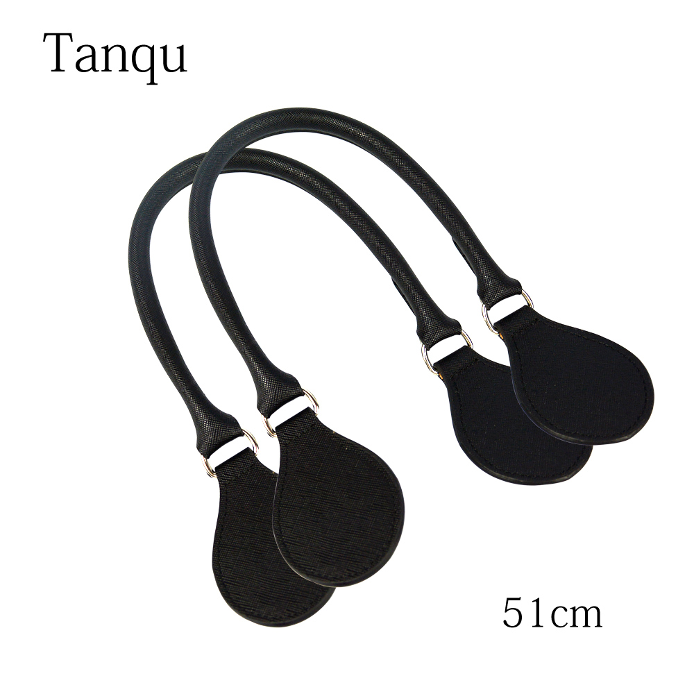 TANQU Short Concise Round Leather Belt Handle With D Buckle Drops For Classic Mini Obag Basket Bucket O City Chic Handbag O Bag