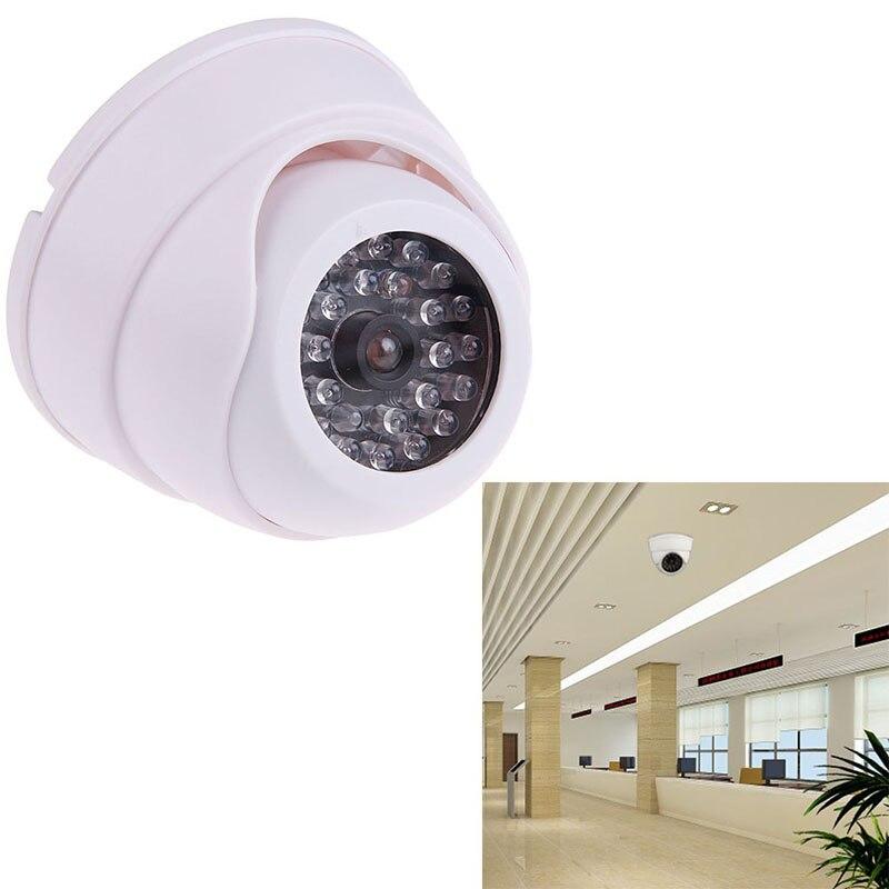 Nueva cámara iP falsa simulada de alta simulación con luz led para destellear Home Store accesorios de vigilancia de vídeo CCTV de seguridad