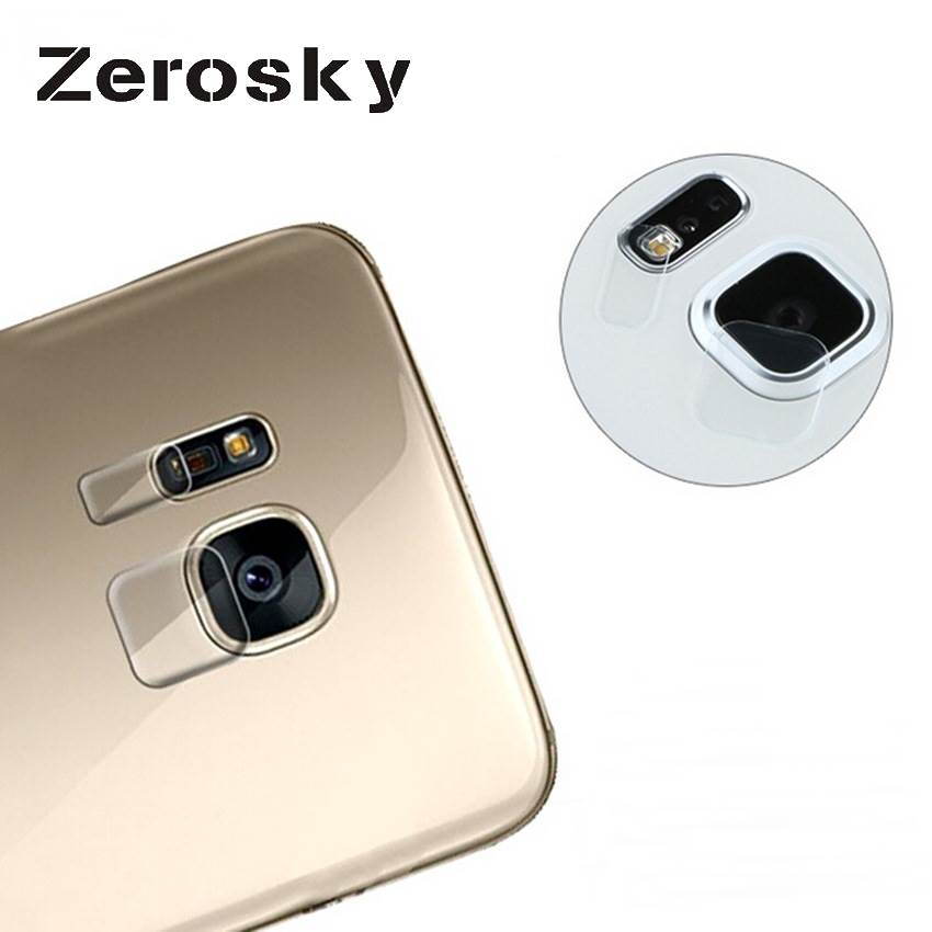 Zerosky Tempered <font><b>Glass</b></font> Film Clear Back Camera Lens Flash Protector Cover For <font><b>Samsung</b></font> Galaxy Note <font><b>5</b></font>/S6/S6 edge/S6 Edge s7edge image