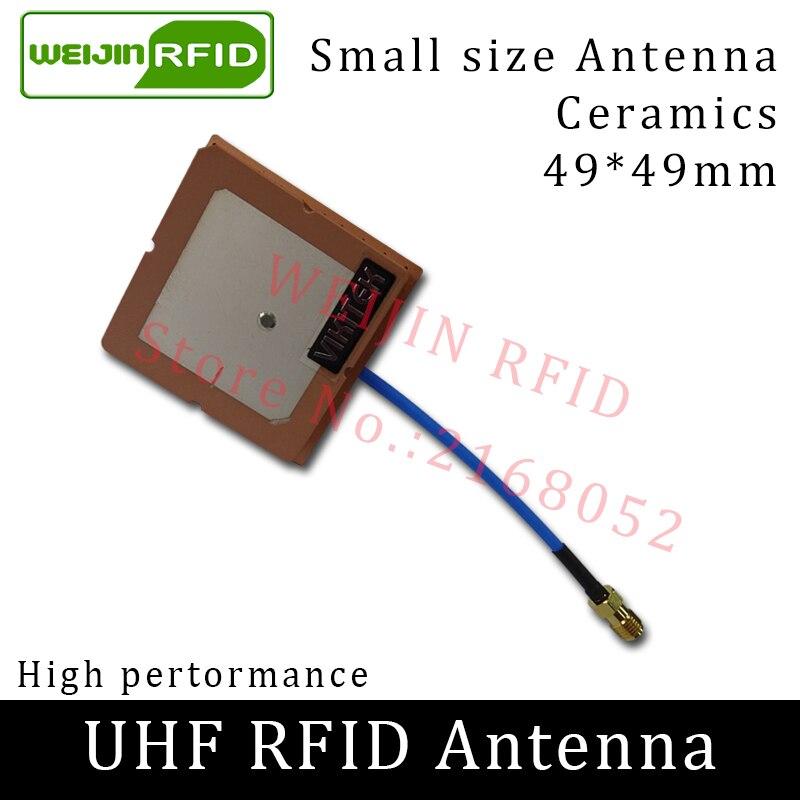 UHF RFID small antenna 915MHz VIKITEK VA45 circular polarization gain 2.5DBI short distance for UHF rfid reader 865 868mhz or 902 928mhz customized abs material waterproof linear circular polarization high gain 12dbi rfid uhf antenna