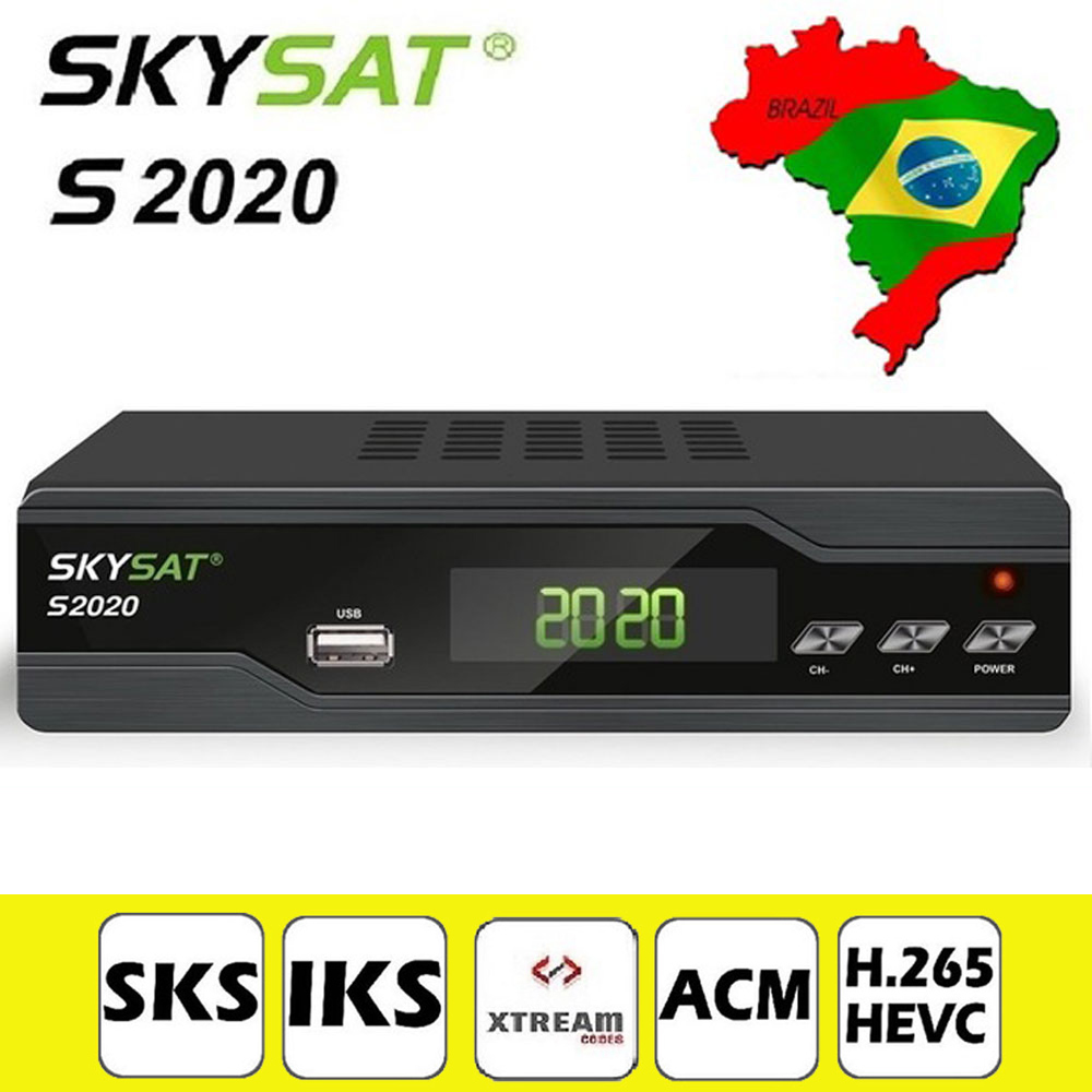 [Genuine] SKYSAT S2020 Twin Tuner Ricevitore Satellitare IKS SKS ACM H.265 Xtream M3U PowerVu Full HD Canale DVB-S2 set top box
