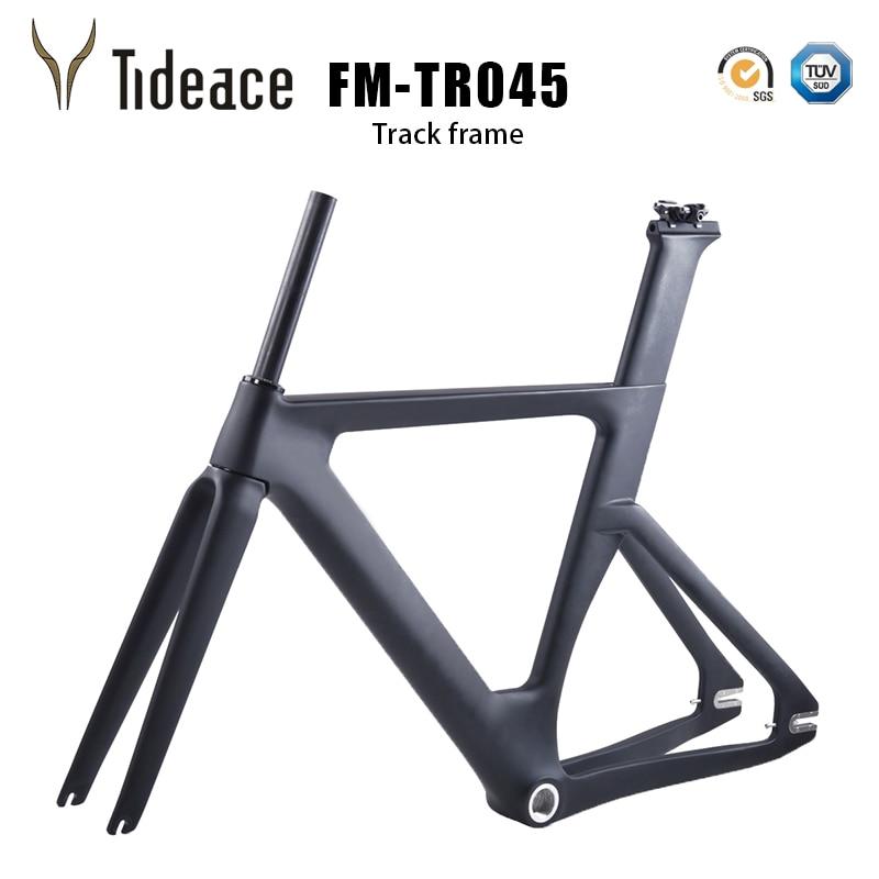 Карбоновая рама для трека Bicicleta углеродное волокно с фиксированной передачей рама для велосипеда карбоновая гоночная Трекинговая велосипе...