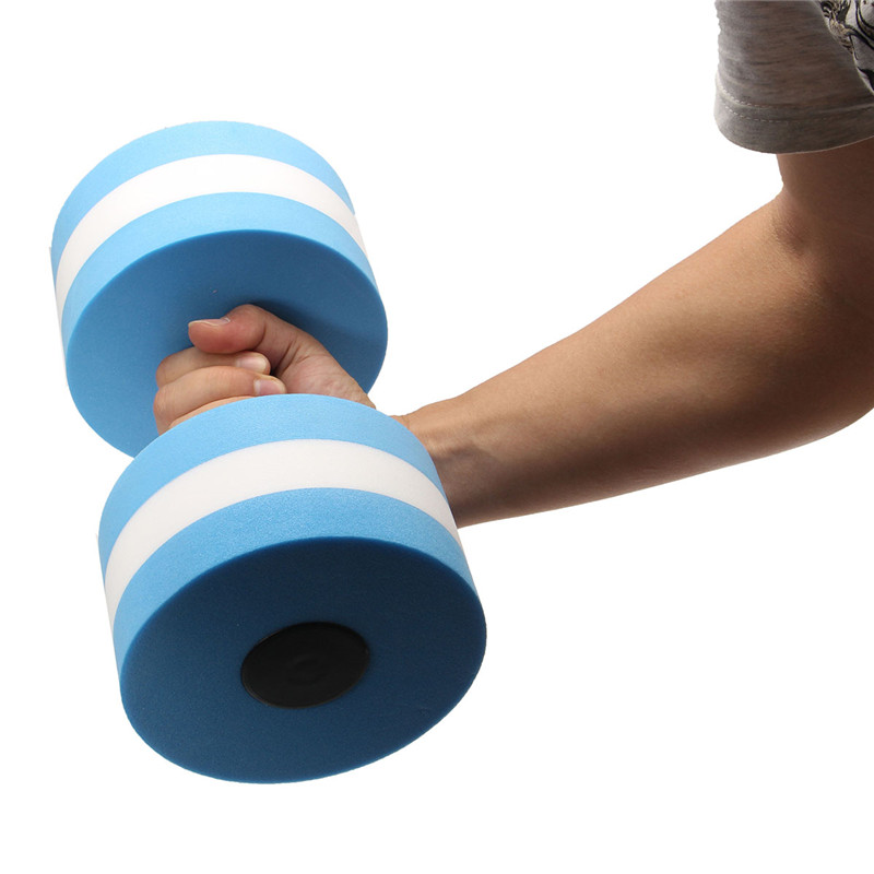 a7e03915f13 1 Pair Water EVA Aerobics Dumbbell Aquatic Barbell Sports Foam dumbbell  Pool Swimming Weight Lifting Exercise Fitness equipment-in Dumbbells from  Sports ...