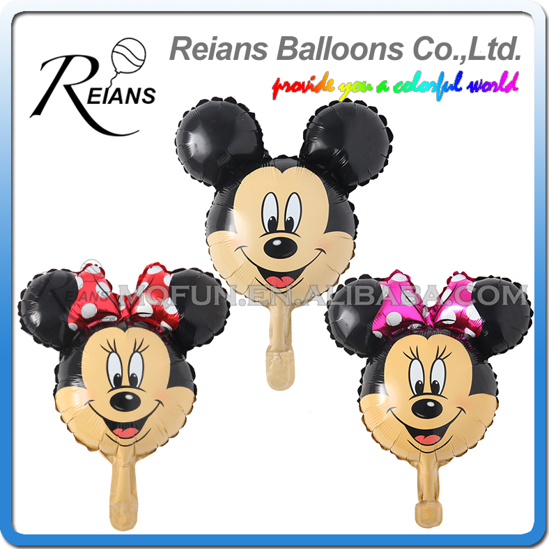 10pcs/lot Mickey Mouse Minnie Head Foil Balloon Kids Birthday Party Decorations Baby Shower Supplies Inflatable Mitch Ballon ...