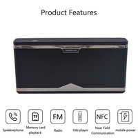 Smart Bluetooth speaker portable design super bass stereo HD phone call TF card FM NFC mobile power supply voice prompt function