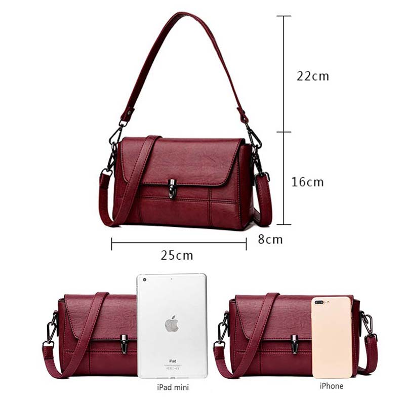 fb398aa7c161 2018 Women Bag Fashion Sheepskin Leather Designer Handbags High Quality  Ladies Bags Famous Shoulder Bag New Sac Feminina-in Shoulder Bags from  Luggage ...