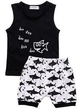 Fish Printed 2 Pieces Clothing Set