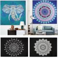 Hippie Mandala Tapestry Bedspread Boho Beach Pareo Pashmina Globule Fringe Wall Hanging Throw Towel Yoga Mat Shawl