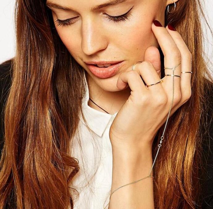 Модные аксессуары в европейском и американском стиле, модные простые браслеты на палец