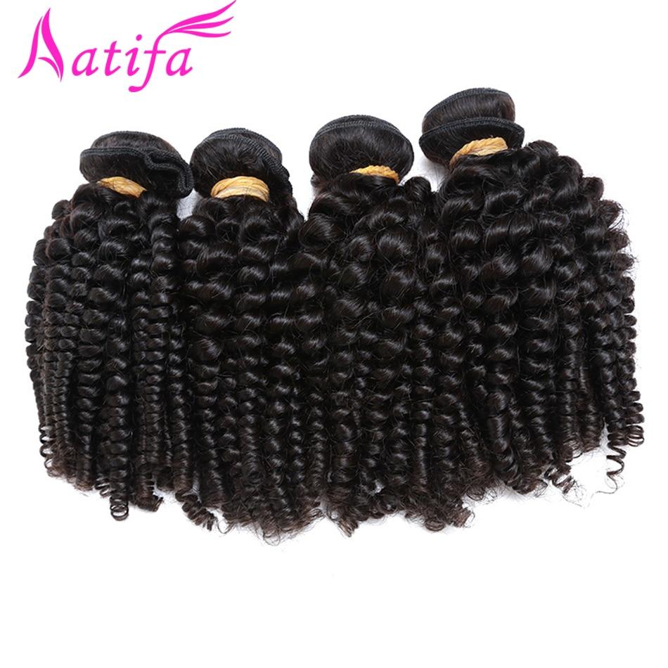 Aatifa 3/4 ชุด Bouncy Curly Hair Funmi Hair ธรรมชาติสีผมบราซิล Remy Hair Extensions 10 28 นิ้ว-ใน การถักผม จาก การต่อผมและวิกผม บน AliExpress - 11.11_สิบเอ็ด สิบเอ็ดวันคนโสด 1