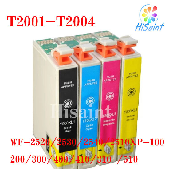 ink cartridge compatible epson t2001 t2002 t2003 t2004 for wf 2520 2530 2540 2510 xp 100 200 300. Black Bedroom Furniture Sets. Home Design Ideas
