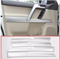 4pcs Car ABS Interior Door Decoration Panel Trim For Toyota Land Cruiser Prado FJ150 150 2010 2018 Auto Accessories Styling