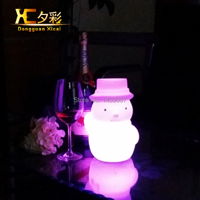 Plastic LED Table Lamp Decoration Night Light For Living Room Bedroom Bar Club Ceremony Wedding Party