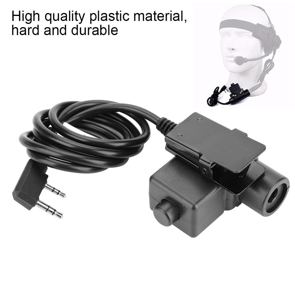 Ptt-Adapter Switch Earphone Talk U94 Push To Button-Assembly Launching