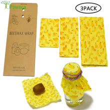 Food Grade Beeswax Fresh Cloth Reusable Fruit Storage Bag Eco Friendly Beeswax Wraps Food Fresh Keeping Washable Covers