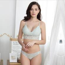 e7a1d569d1e06 New no steel ring bra set sexy lace underwear triangle cup thin section women  underwear set