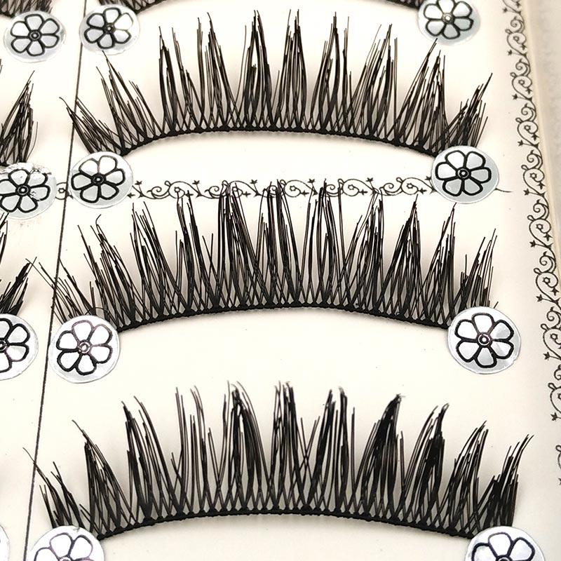 <font><b>10</b></font> <font><b>Pair</b></font> Handmade False <font><b>Eyelashes</b></font> Quality Fake Lash <font><b>Eyelash</b></font> Extension Eye Lashes Make Up Falses Natural Lashes Tools L9 image
