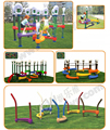 Équipement d'activités de plein air pour enfants, aire de jeux de jouets en plastique de jardin d'enfants