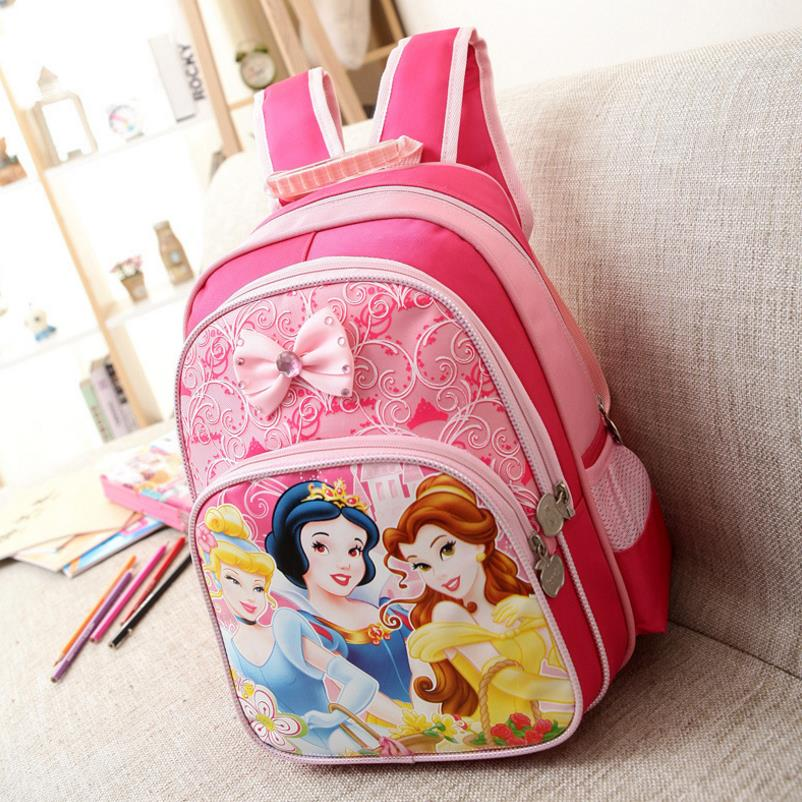 Kids Bag Shoulder-Bag Princess Backpack Children Schoolbag Girls Cute Mochila-Infantil