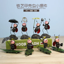 Creative Cute Iron Art Beetle Model Living Room Furnishing Home TV Cabinet Decoration Ants Figurines Handicraft Desk