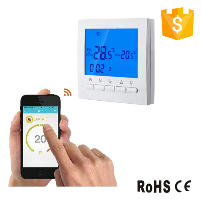 16A WIFI HVAC Programmable Electric Floor Heating Temperature Regulator Controls Thermostat & Hand Control Thermostat floor heating thermostat temperature control switch electric film thermostat electric geothermal uth 170r
