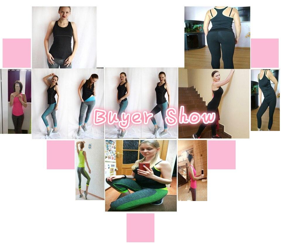 Fitness Geyim Zolaqlı Qolsuz Tennis Yoqa Vest + Şalvar. Qatı - İdman geyimləri və aksesuarları - Fotoqrafiya 6