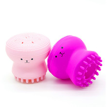 eauty Face Skin Care Cleaning Tools Cute Octopus Jellyfish Facial Cleansing Brush Puff Massage Exfoliating Wash