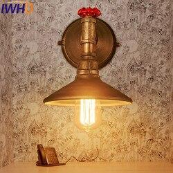 Loft stylu żelaza wodociąg kinkiet Edison lampa ścienna E27 przemysłowe archiwalne doprowadziły ściana światło oprawy oświetleniowe oświetlenie wewnętrzne lampora