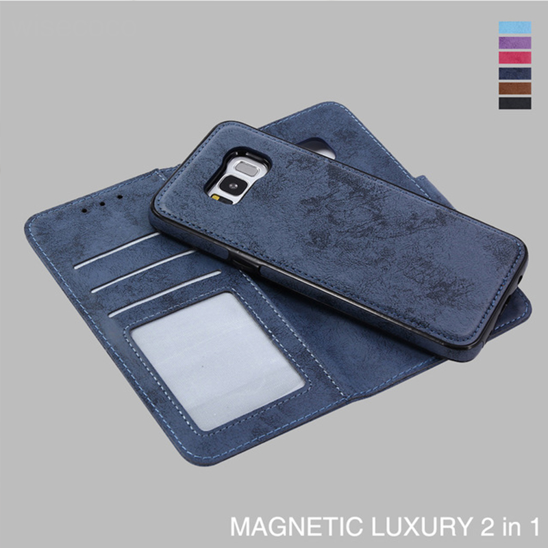 Sleeve For Samsung S6 S7 edge S8 S9 plus Case Wallet Magnetic Luxury Retro Leather Funda note 8 9 Cover Protective Shell Coque