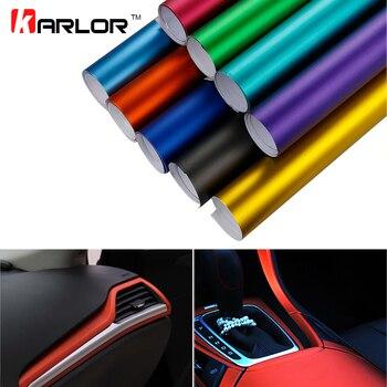 Car Styling 30*100 cm PVC Vinyle Wrap Placage Mat Glace Autocollant Décoratif Auto Feuille de Film Pour Voiture Camion moto Clavier D'ordinateur Portable