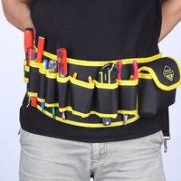 1pcs Professional Electricians Tool Storage Holder Waist Bag Convenient Organizer Adjustabe Belt Electrician Tool Pouch Bag