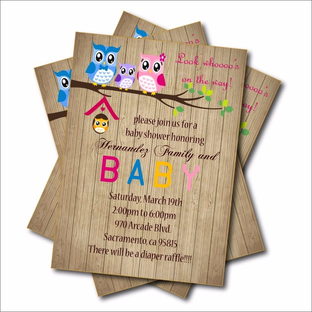 aliexpress : buy 20pcs owl baby shower invitation boy or girl,