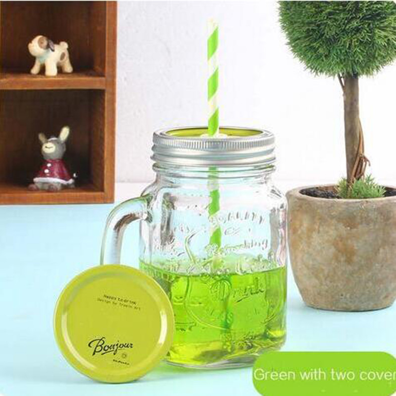 Summer Cold Drink Infusion Bottle for straw Ice Cream Fruit Installed Water Bottle Mason Jar Kettle Jarras indoor Camping HHY1