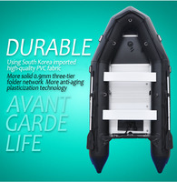 CANDO 1.2MM Thick Assault Boat Fishing Black Inflatable Boat TY380 Aluminum Frame Stable Boat Racing Ship Beach Rubber Kayaking
