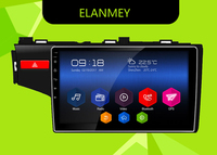 Elanmey GPS 8 Core Bluetooth stereo android 8.1.0 car multimedia player for HONDA JAZZ FIT 2014 multimedia radio no DVD Player