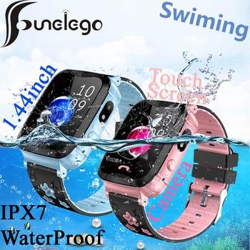 Funelego IP67 Deep Waterproof Kids GPS Smart Phone Watch For Children Water Resistant Baby Swimming SeTracker PK Y03